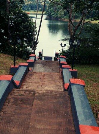 KTDC Lake Palace Thekkady: The steps to the palace