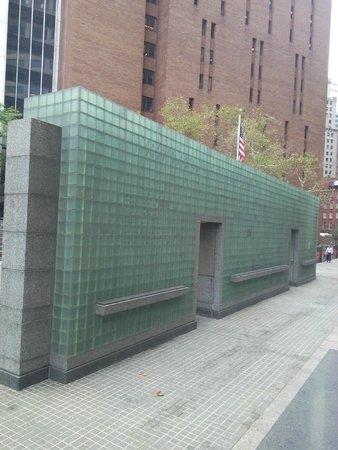 New York City Vietnam Veterans Memorial Plaza: wall