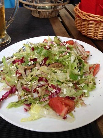 In Town: This is NOT Greek Salad. Horrible one!!!