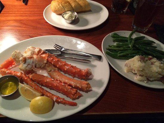Crab Legs Green Beans Mashed Potatoes Picture Of