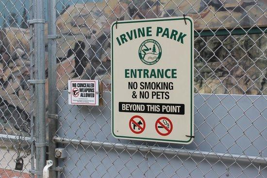 Irvine Park: signage