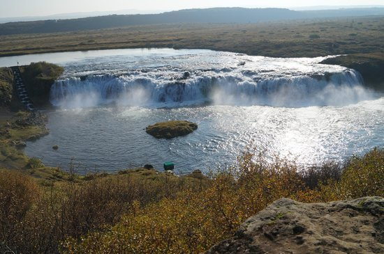 Iceland Horizon - Golden Circle Tour: One side of the beautiful falls