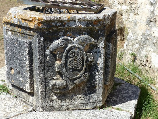 St George's Castle: trough?? (with Venetian coat of arms??)