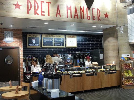 Pret A Manger: counter and staff