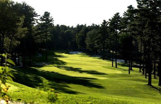 Dunegrass Golf Club: view from the tee on the 1st hole