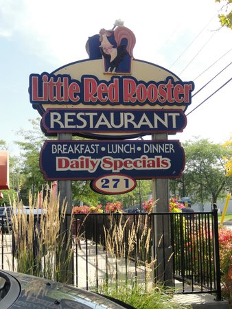 Little Red Rooster Restaurant located across from Best Western Hotel