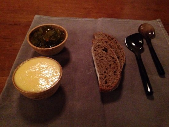 The Common Tiger: House made buckwheat bread, smoked butter, & chutney