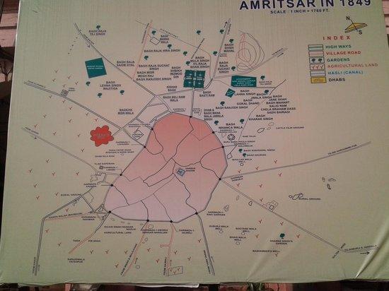 old amritsar map Picture of Amritsar Heritage Walk Amritsar