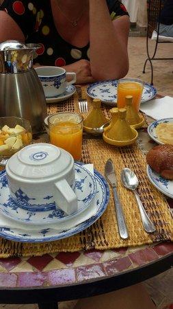 Riad Amira : Petit déjeuner au top