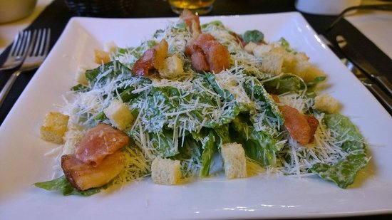 Melnie Muki: Caesar salad with bacon