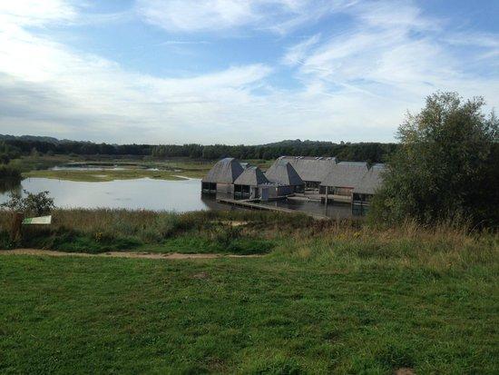 Brockholes Nature Reserve: View of the building complex Brockholes