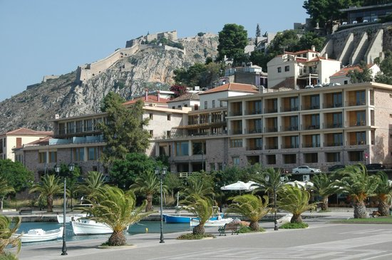 Amphitryon Hotel from the harbour