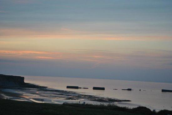 camping du golf : Soleil couchant de Normandie