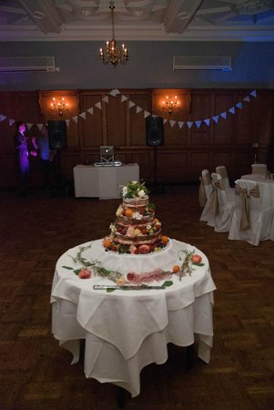 The Maynard: Set up for the cake cutting/ disco