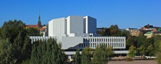 ВИД ИЗ ОКНА НА FINLANDIA HALL
