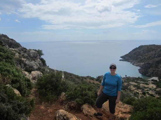 Sougia, Greece: View before final descent into Ancient Lissos