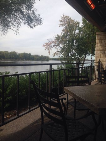 Waterfront Restaurant and Tavern: View of the Mississippi from our table.