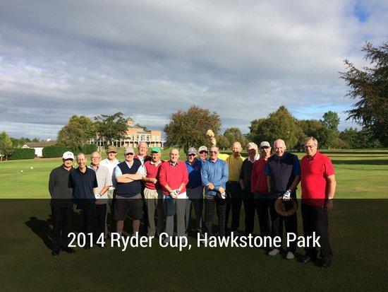 Hawkstone Park Hotel: 16 old boys at Hawkstone Park