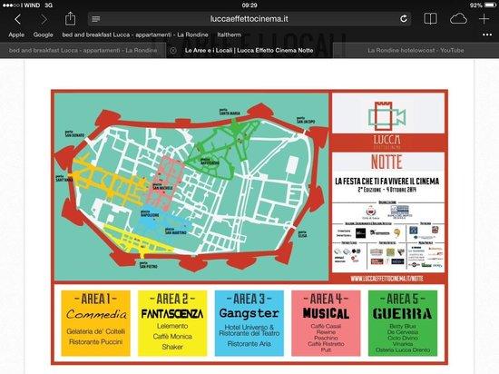 B&B La Rondine: Lucca effetto cinema evento speciale la Rondine Lucca alloggi a basso costo