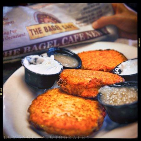The Bagel Cafe: Awesome Potato Pankakes.