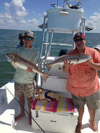 Me and my buddy had multiple double hook ups picture of for Tampa florida fishing charters