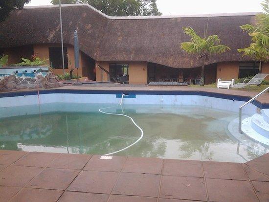 AmaZulu Lodge : la piscina da cui prendono l'acqua per riempire la riserva