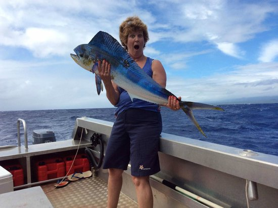 Savaii Lagoon Resort: Wow, I caught a masimasi!!