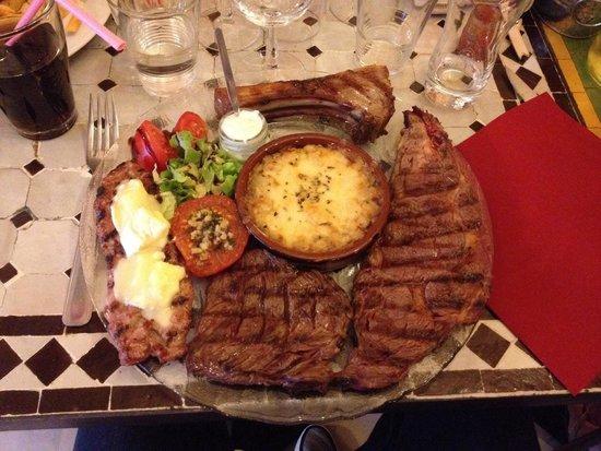 A L' Ancienne: Je recommande cette assiette pour les carnivores!!!!