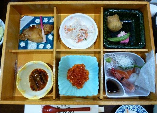 Meitonomori Hotel Kitafukuro: 夕食箱膳