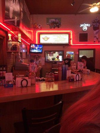 counter seating a burger Bob's
