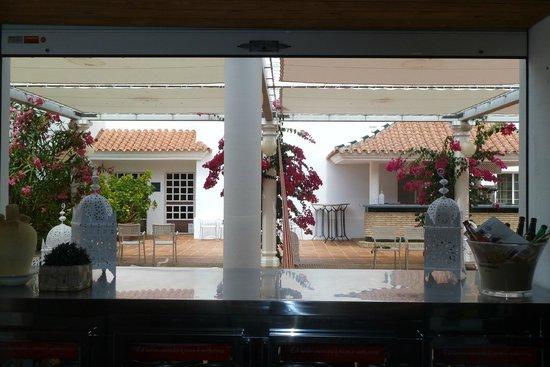 Hotel Playa de la Luz: Restaurant Terrasse