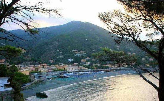 Hotel delle Rose : morning sun over Bonassola