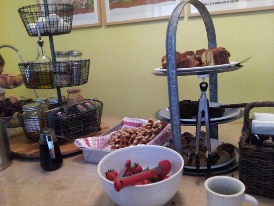 American Dream Hostel: el desayuno!