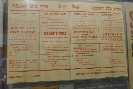 National Museum of American Jewish History: Early Jewish Socialist strike announcement