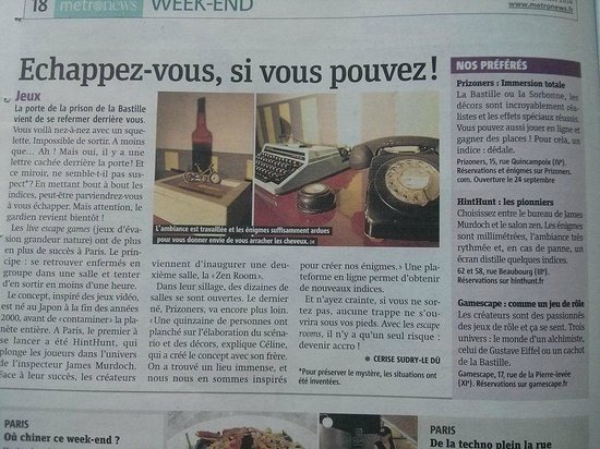 Article metronews picture of prizoners paris tripadvisor
