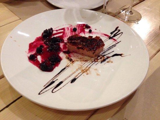 Panko: Foie micuit con crujiente y arándanos