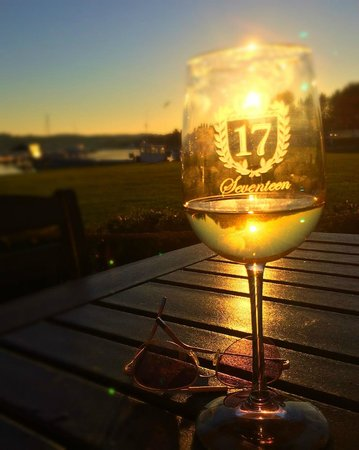 Seventeen: Wine At Sunset On The Patio. Life Is Good.