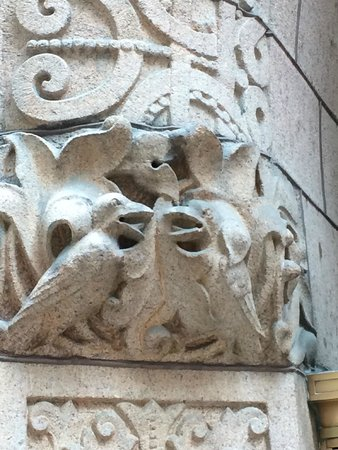 The Rookery: Carved rooks guard the entrance
