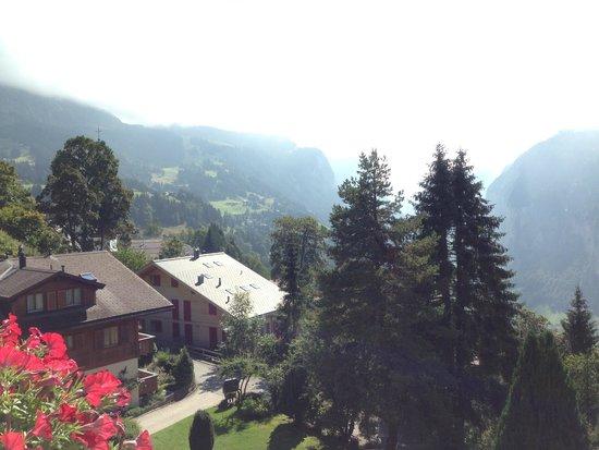 Hotel Wengener Hof: view from balcony