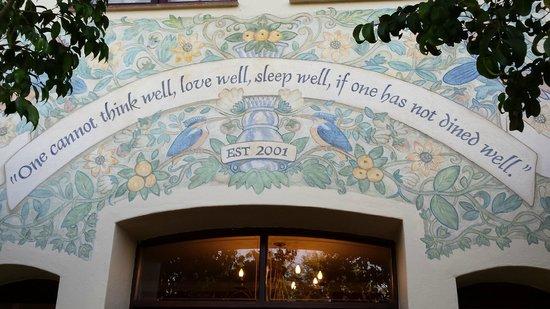 Oliver's Restaurant & Lodge: Restaurant's mission statement