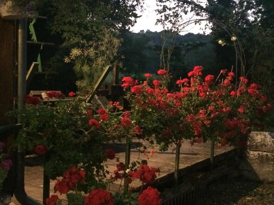 Le Moulin des Foulons : próximo à varanda do jantar