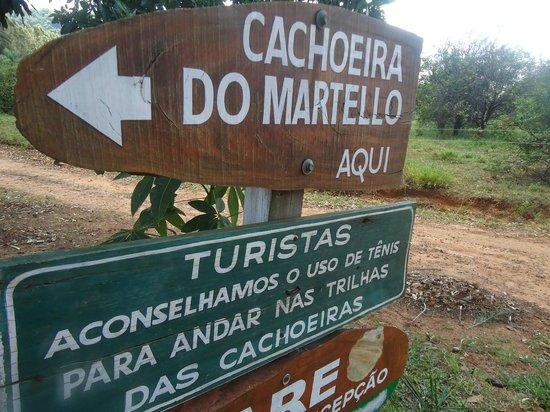 Martelo Waterfall: Cachoeira do Martelo - entrada do sítio
