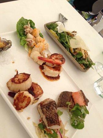 Season Restaurant: Season Seafood Antipasti plate