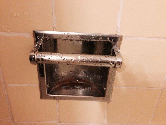 Riverside Inn: Corroted soap handler