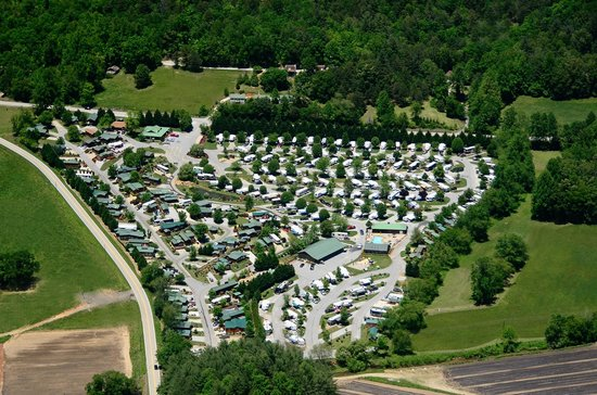 River Vista Mountain Village RV Resort Georgia Aerial View 3