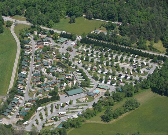 River Vista Mountain Village RV Resort Georgia Park Aerial View 2