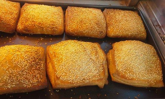 Walla Artisan Bakery & Cafe: Curry eggplant and mushroom Boureka