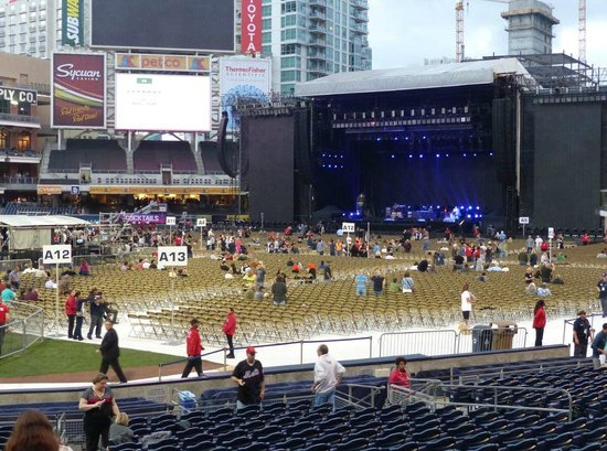 Petco set up for Sir Paul's concert. - Picture of Petco ...