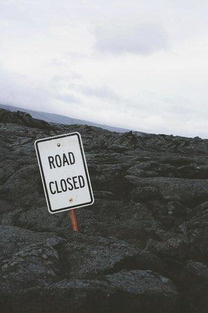 Crater Rim Drive: Road Closed  www.closet-creep.com