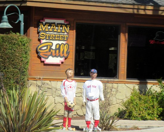 Main Street Grill during Scarecrow Festival October 2014, Cambria, CA